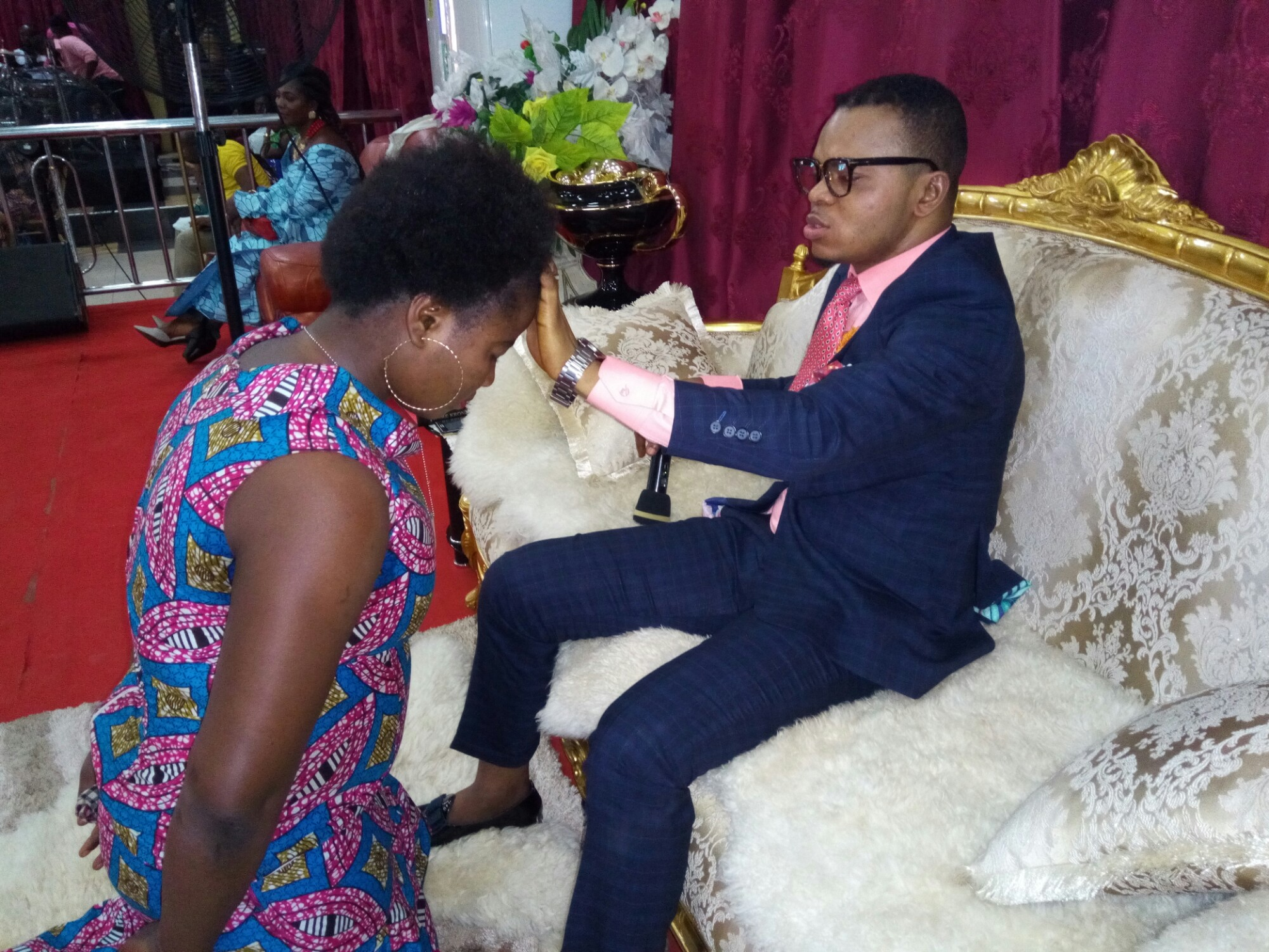 Image result for Angel Obinim sleeping with lady